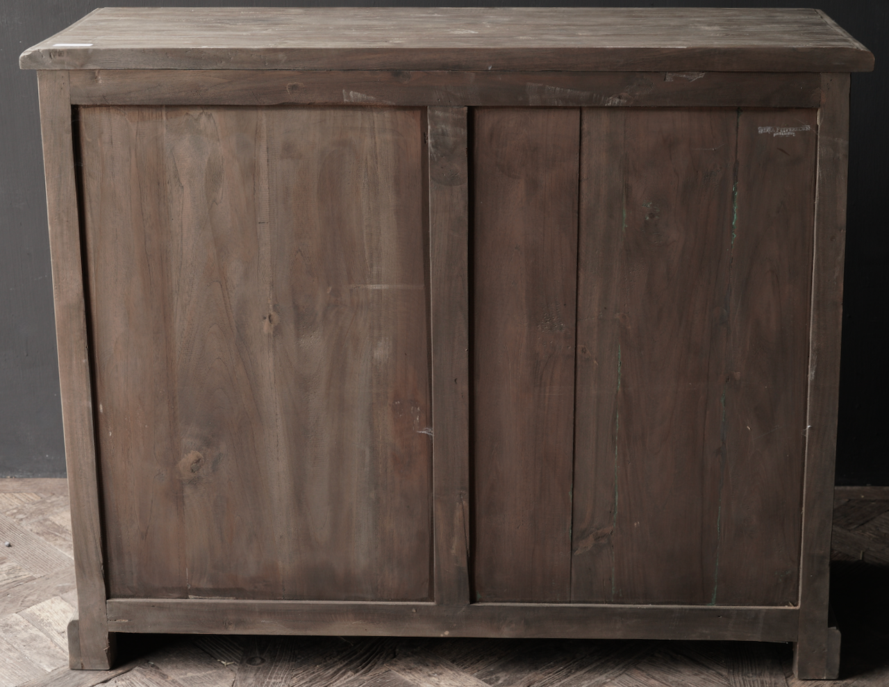 Old wooden chest of drawers with a door Lieke-3