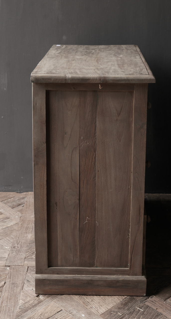 Old wooden chest of drawers with a door Lieke-4