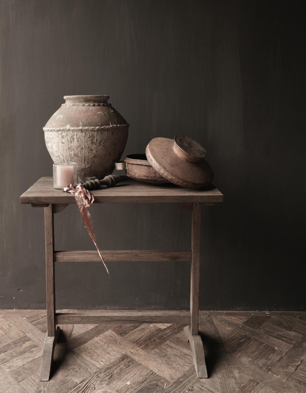 Muurtafel Side table  schrijftafel van oud hout-1