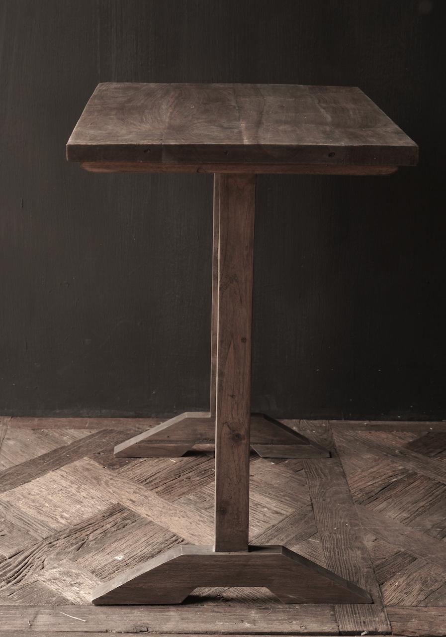 Muurtafel Side table  schrijftafel van oud hout-2
