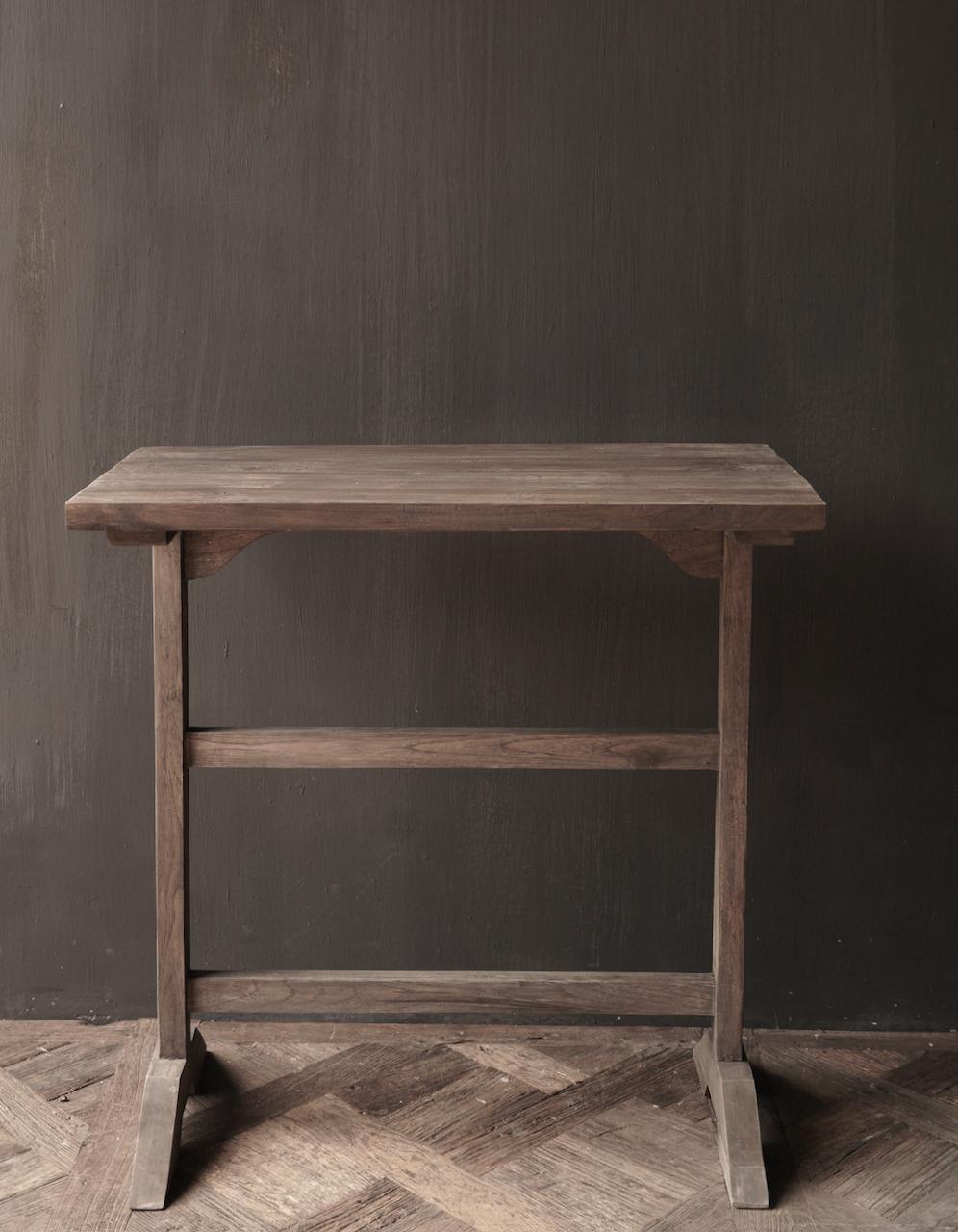 Muurtafel Side table  schrijftafel van oud hout-5