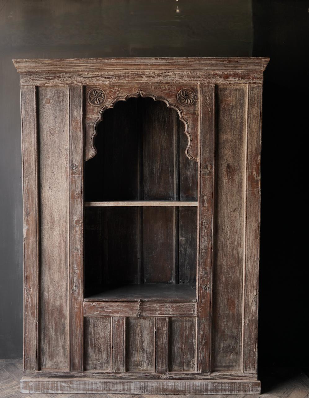 Tough Beautiful Unique old Indian open cupboard-2