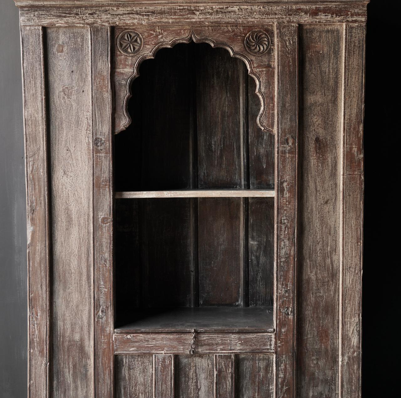 Tough Beautiful Unique old Indian open cupboard-3