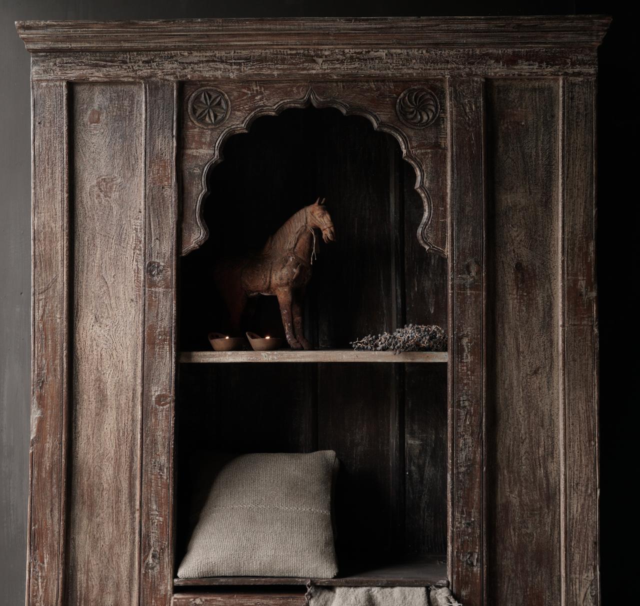 Tough Beautiful Unique old Indian open cupboard-5