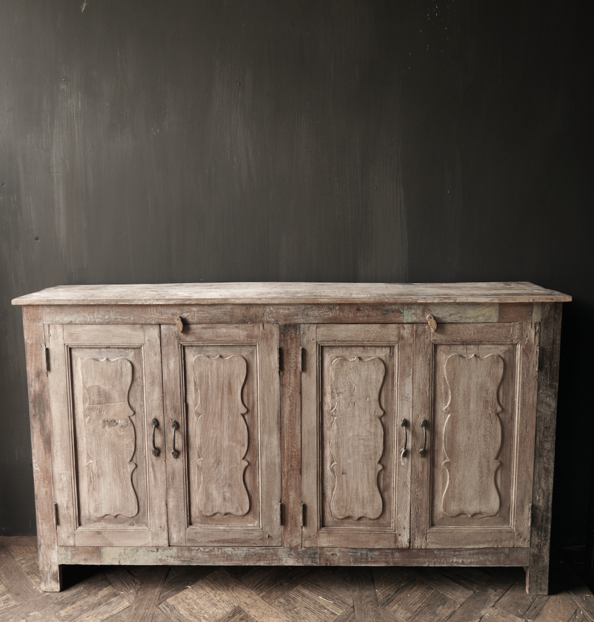 Unique Indian sideboard with four doors-5