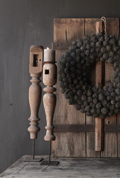 Kerzenständer aus Holz Old Baluster