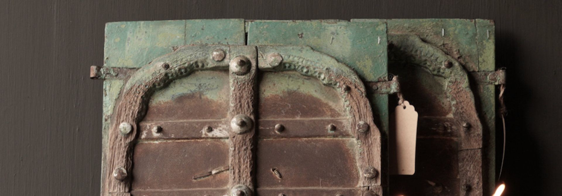 Beautiful Old Indian wooden hatch