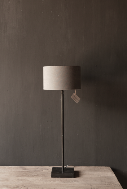 brown round Iron table lamp