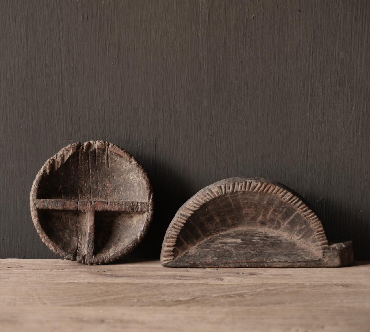 Alte nepalesische Gewürzkiste aus Holz-4