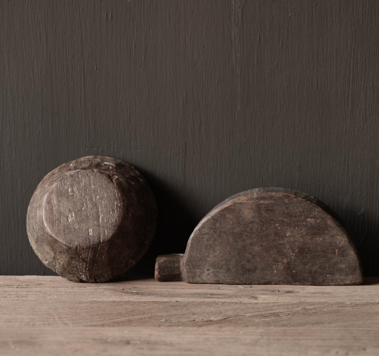 Alte nepalesische Gewürzkiste aus Holz-5