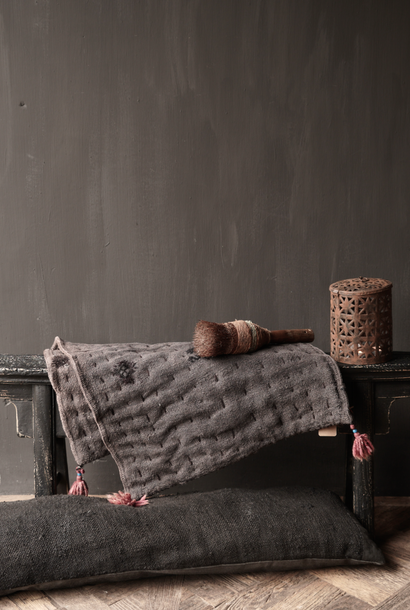Black Authentic old wooden Bench
