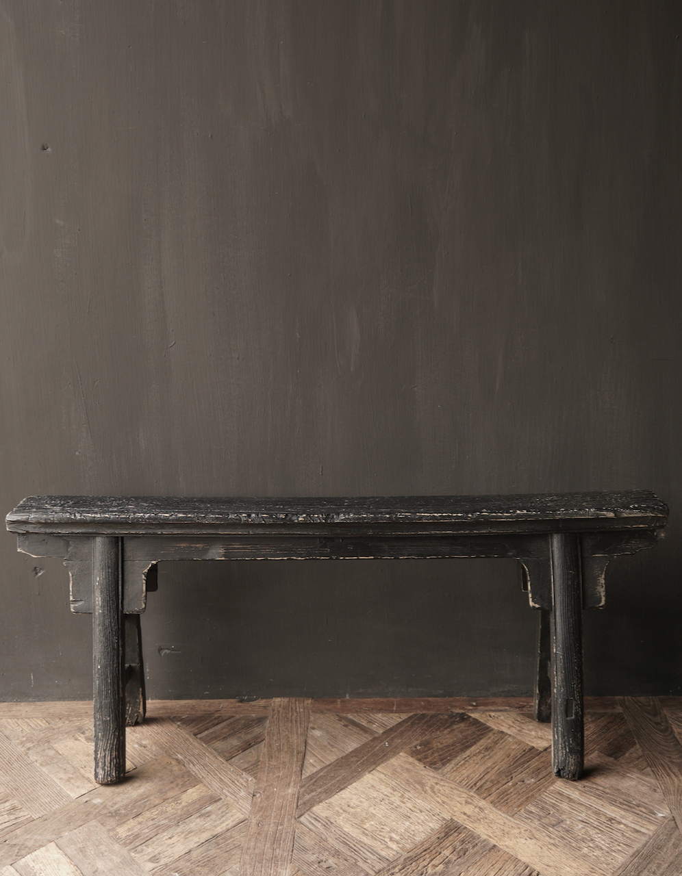 Black Authentic old wooden Bench-2