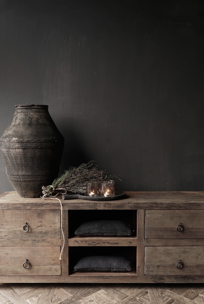 GERESERVEERD Tv Meubel / dressoir van oud  hout