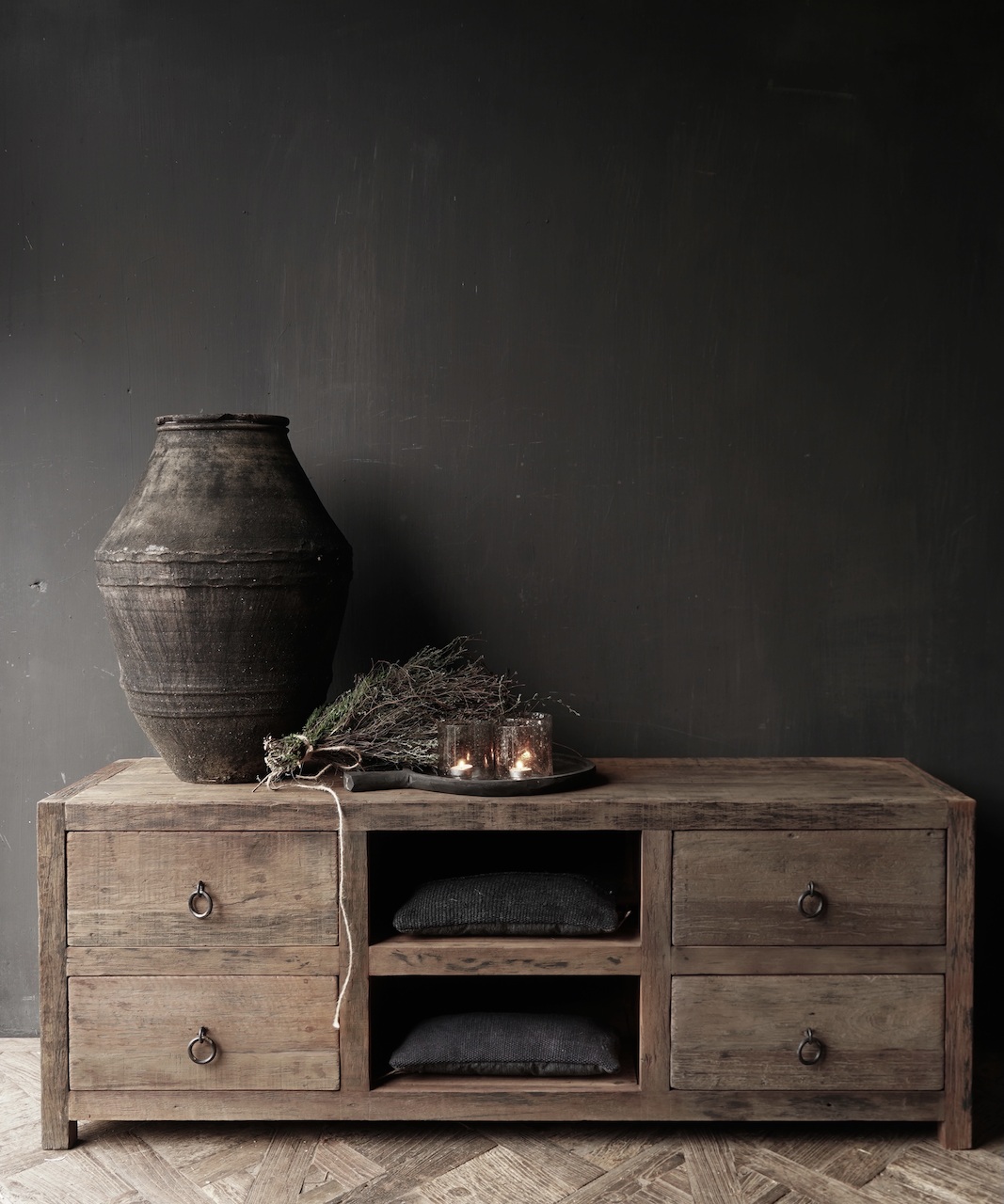 RESERVED TV Furniture / sideboard of old wood-1