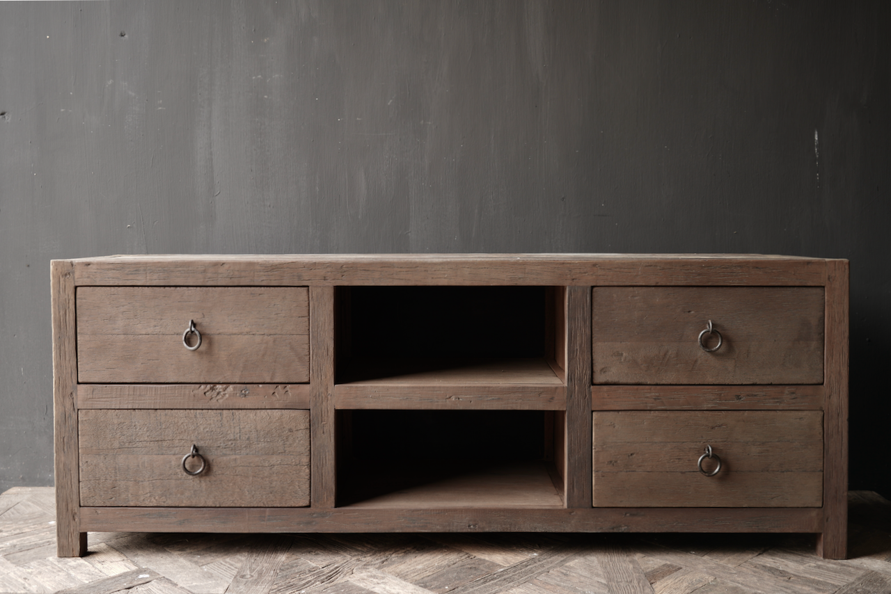 RESERVED TV Furniture / sideboard of old wood-2