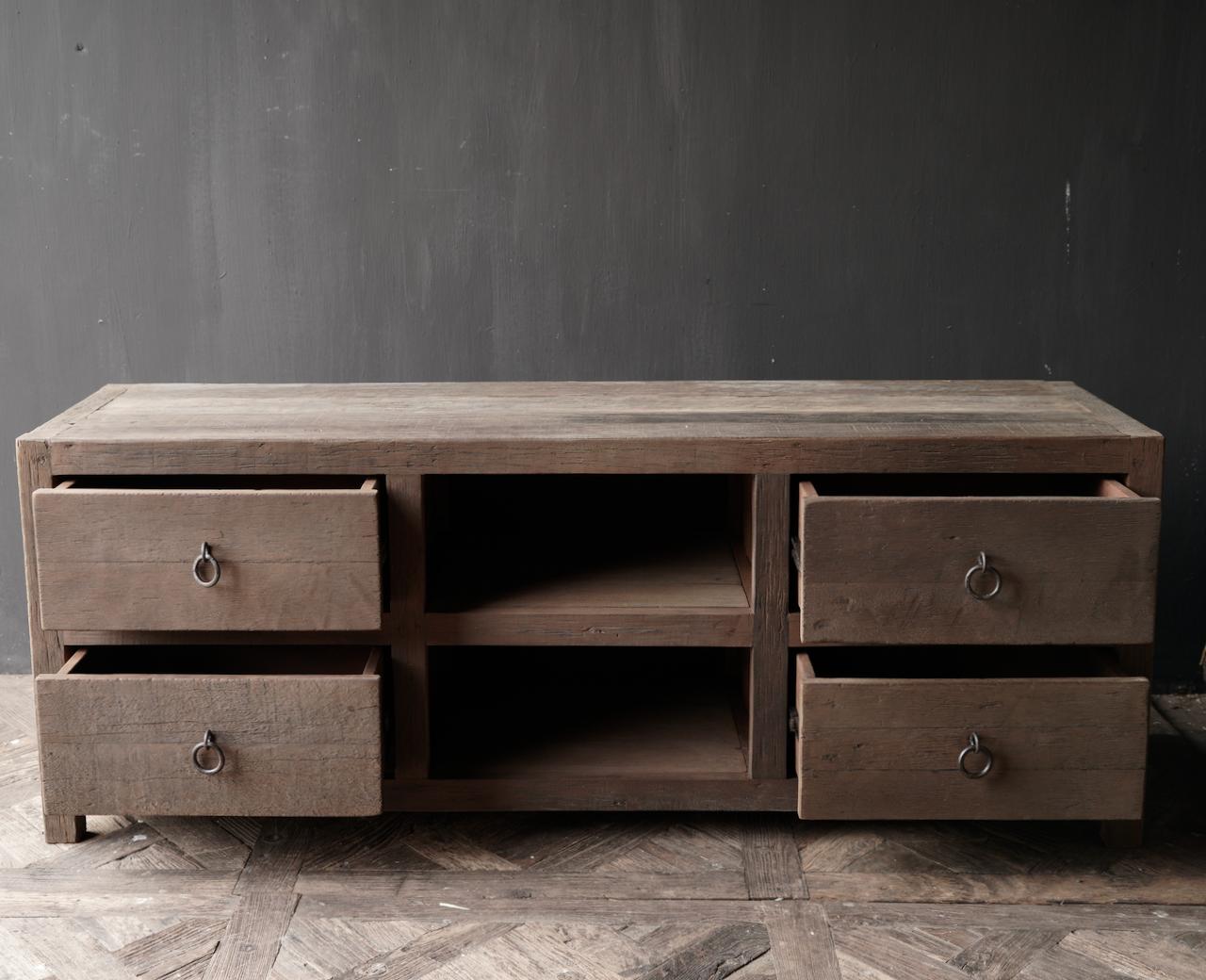 RESERVED TV Furniture / sideboard of old wood-4