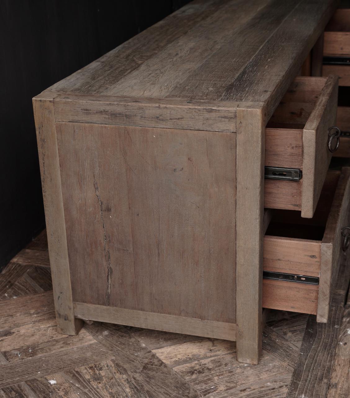 RESERVED TV Furniture / sideboard of old wood-5