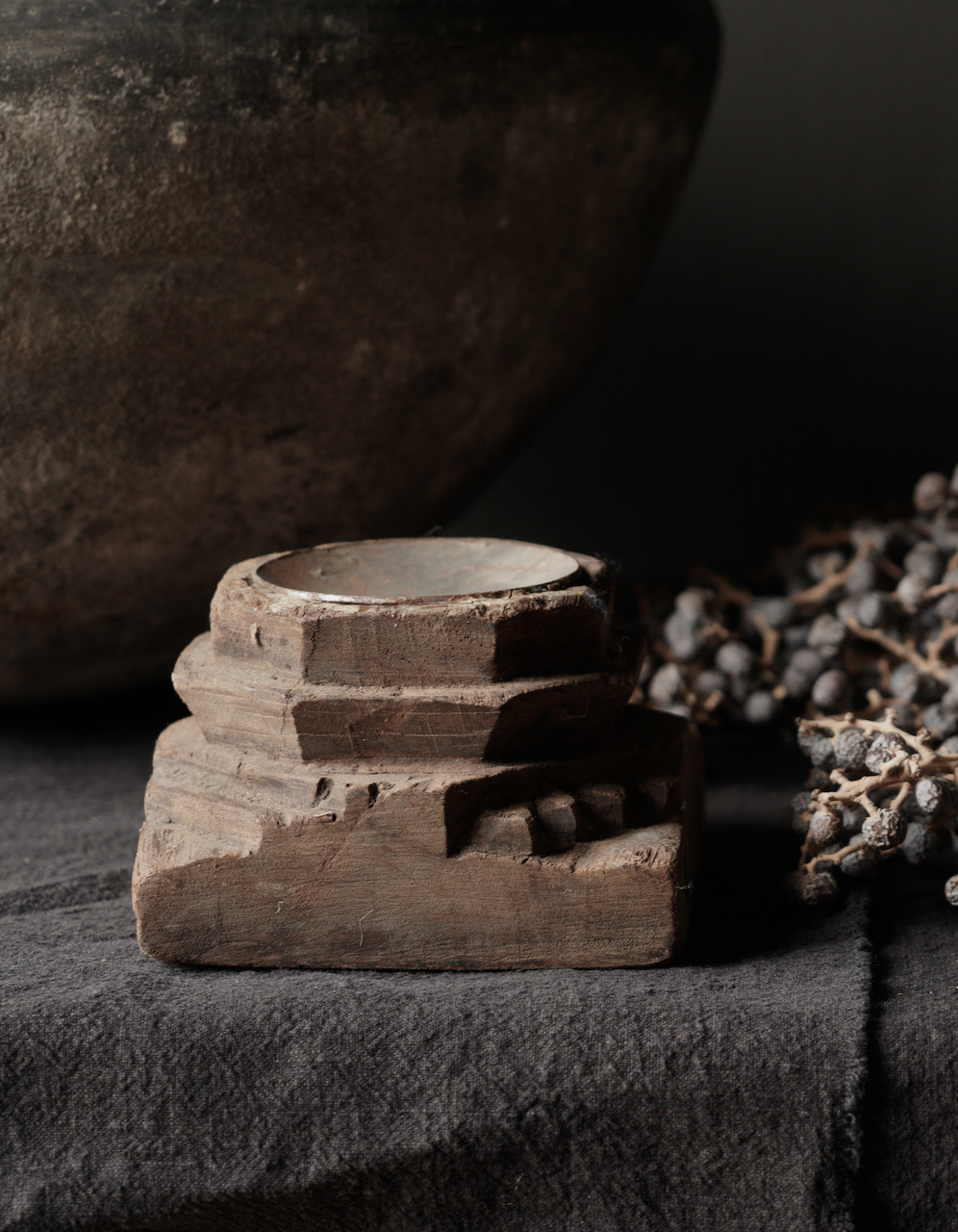 Houten Kandelaars van oud ornament-3