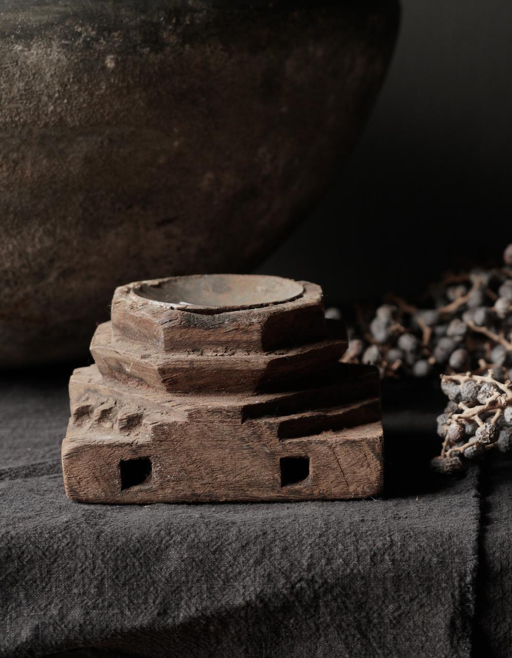 Houten Kandelaars van oud ornament-4