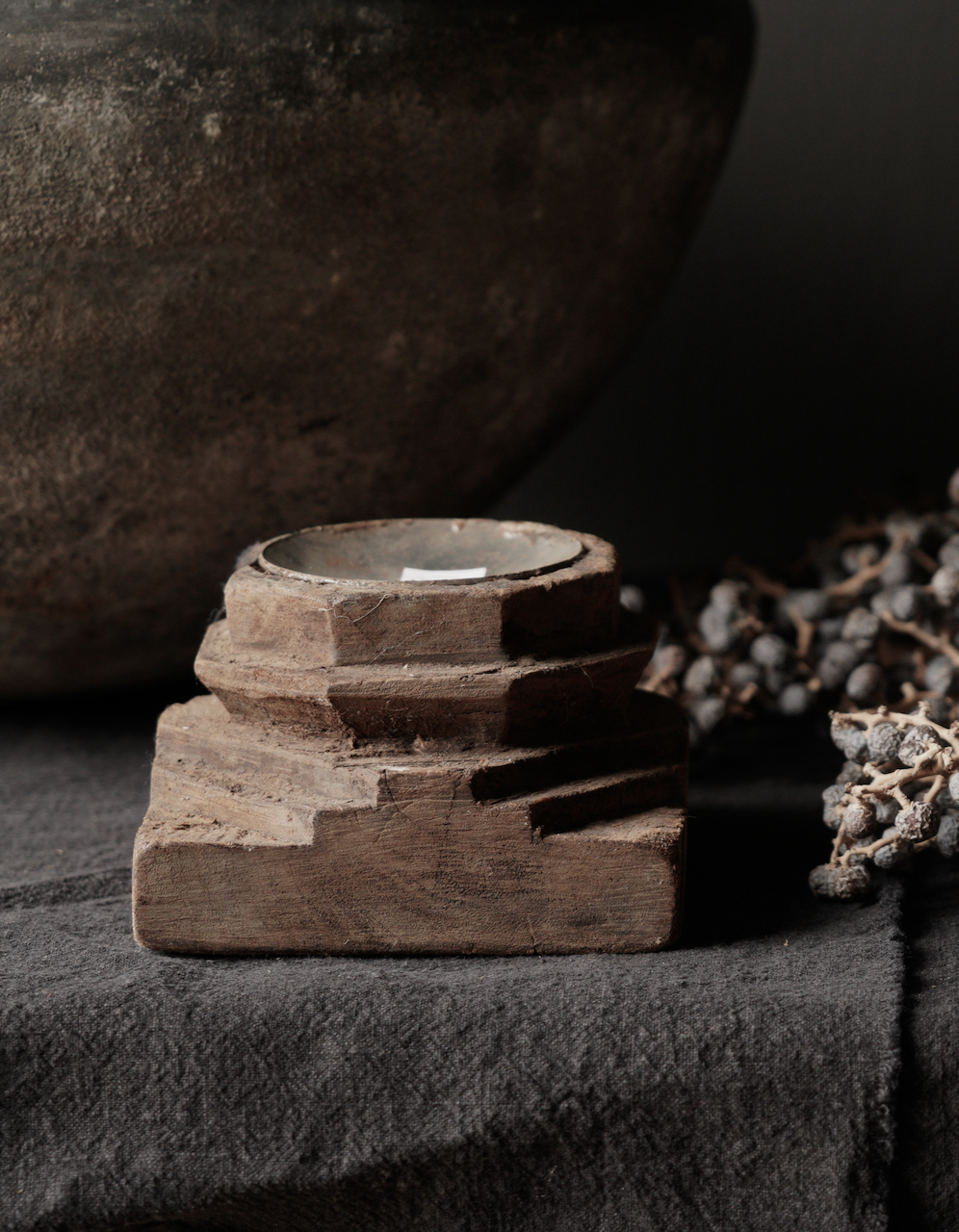 Houten Kandelaars van oud ornament-5