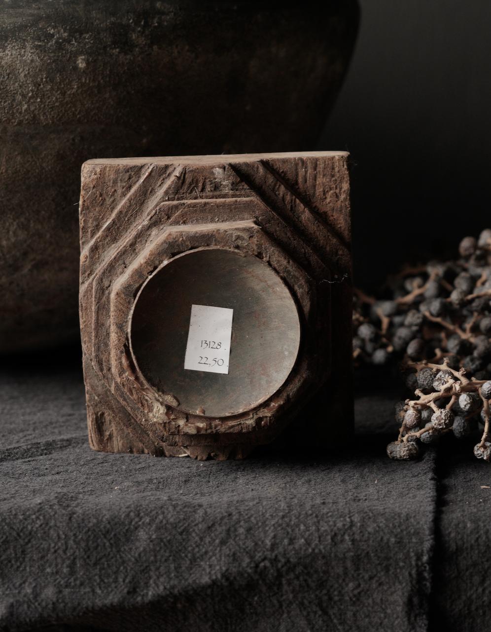 Houten Kandelaars van oud ornament-6