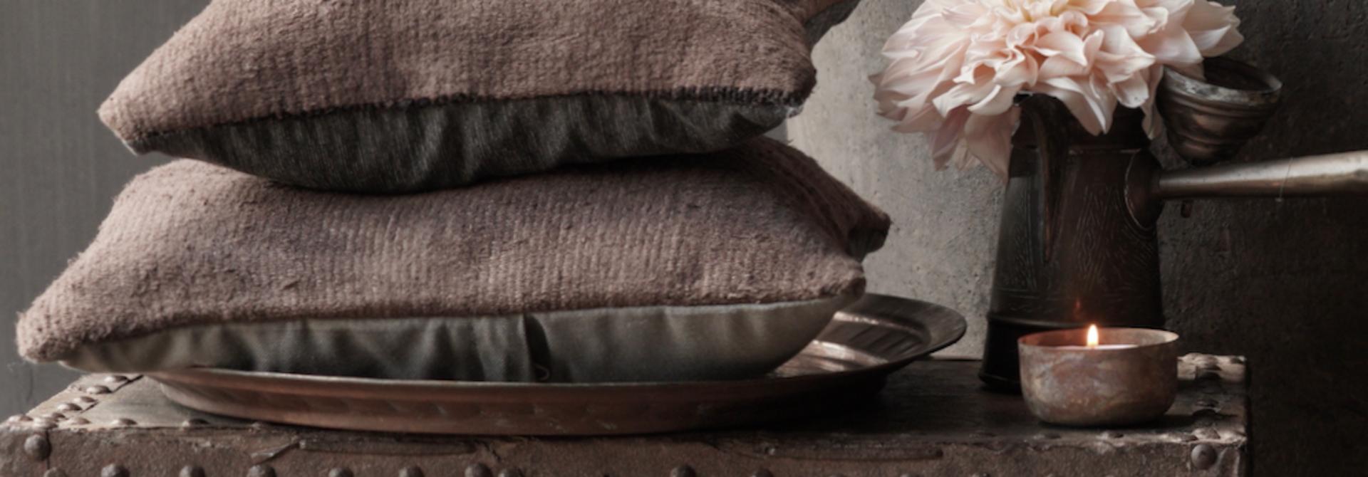 Kilim cushion Brown