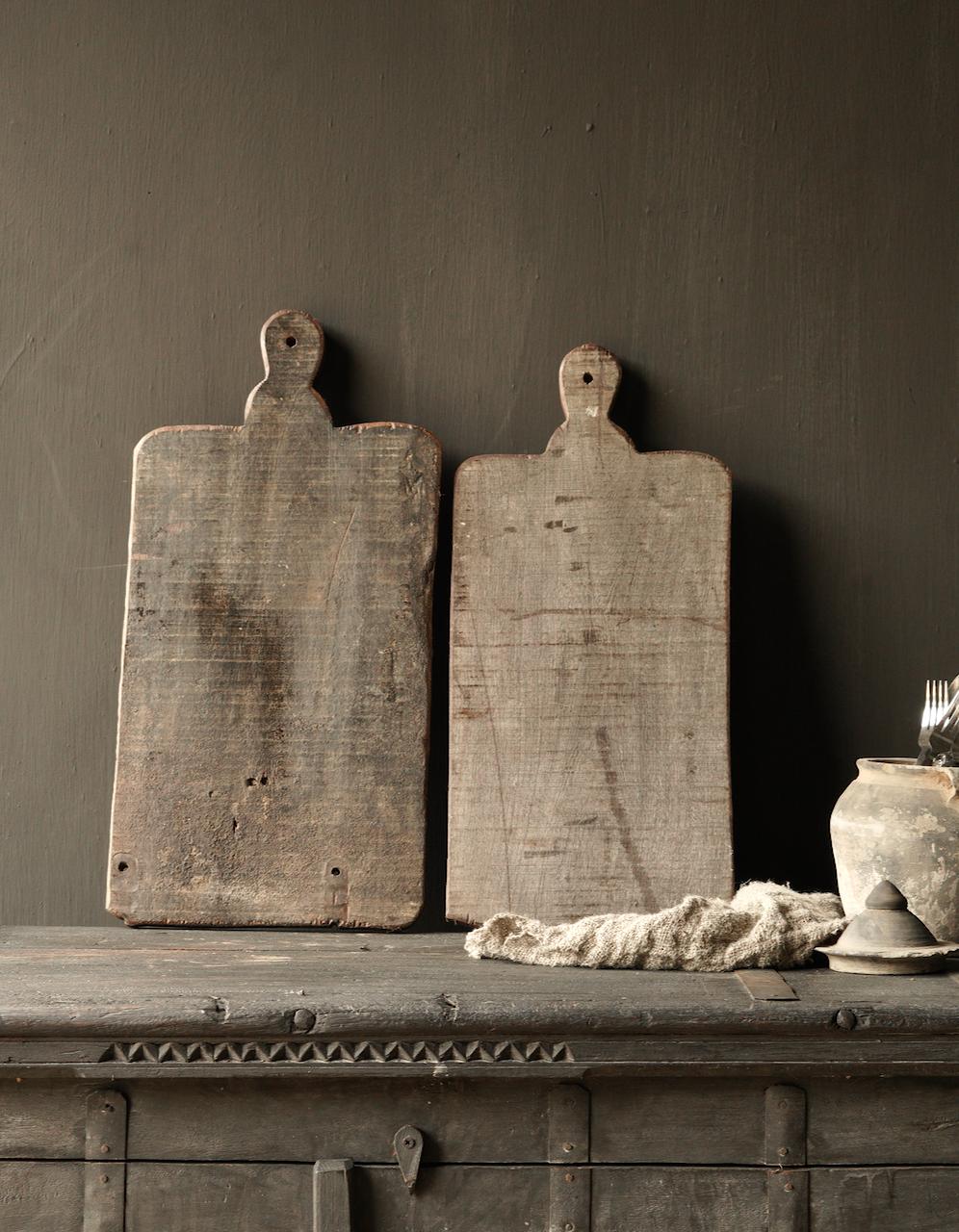 Oud houten broodplank / Snijplank-4