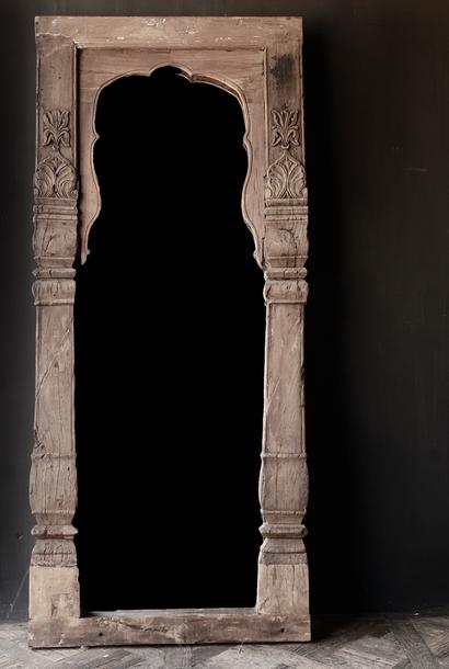 Authentischer Holzspiegel India XXL