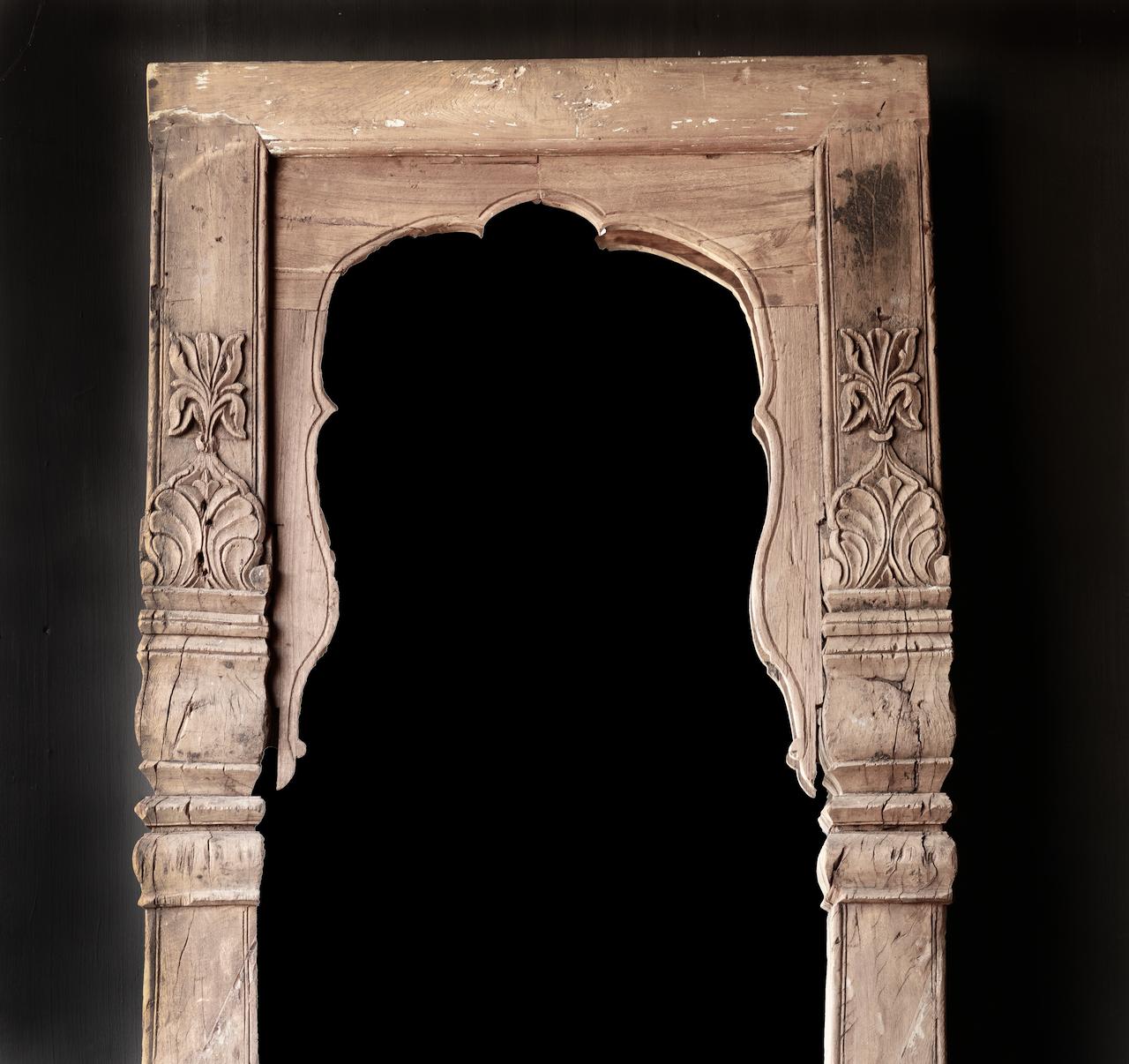 Authentischer Holzspiegel India XXL-2