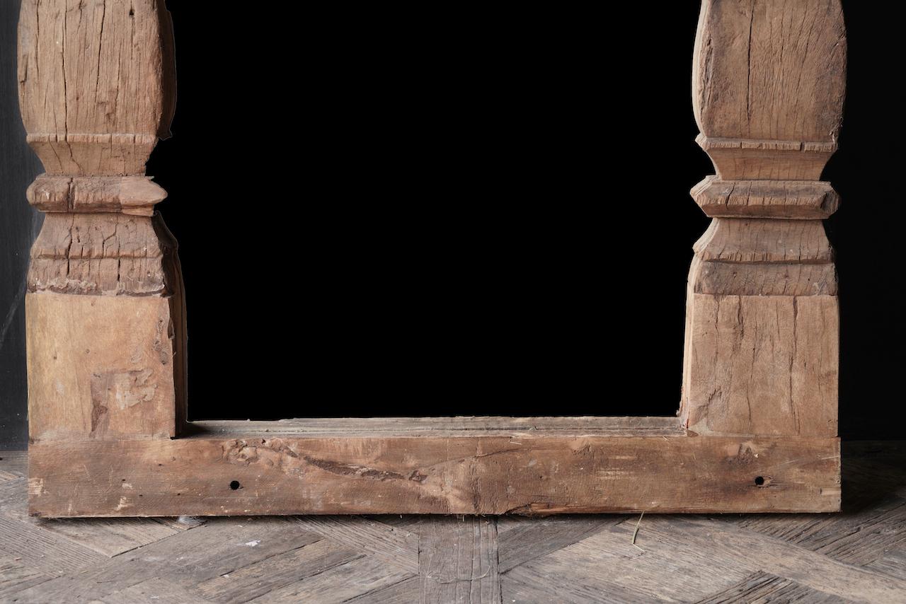 Authentischer Holzspiegel India XXL-3