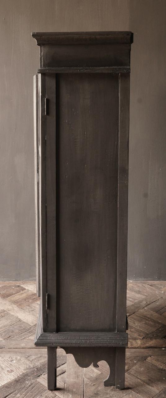 Oude Unieke Indische ( Wabi Sabi) kastje twee glas deuren-3