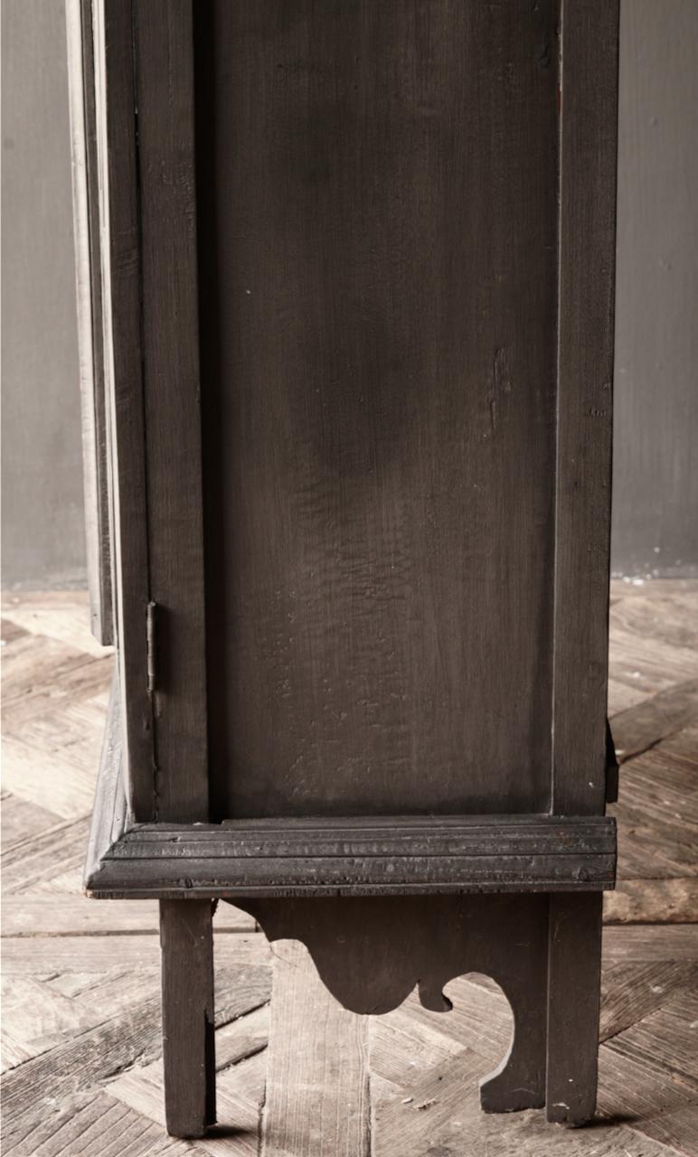 Oude Unieke Indische ( Wabi Sabi) kastje twee glas deuren-4
