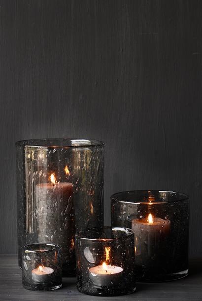 Thick Glass lantern Smokey Gray Pure Living