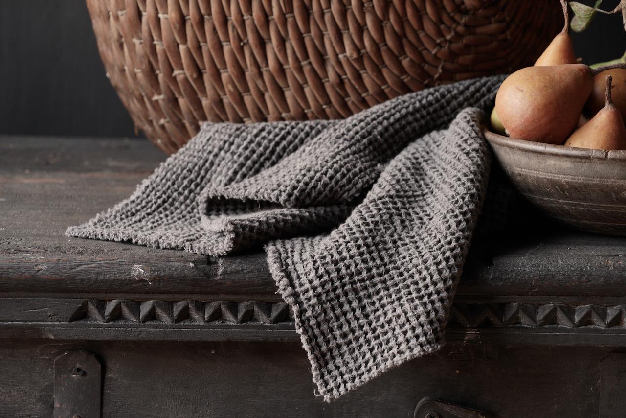 Küchentuch grau 40×40-2
