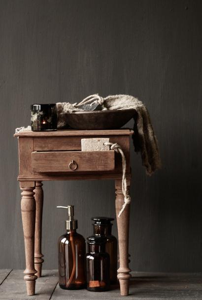 Uniek Oud Authentiek  houten mini tafeltje
