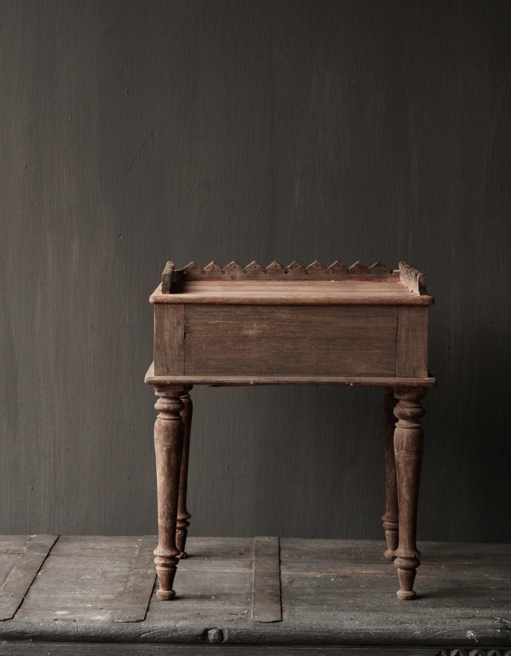 Unique Old Authentic wooden mini table-3