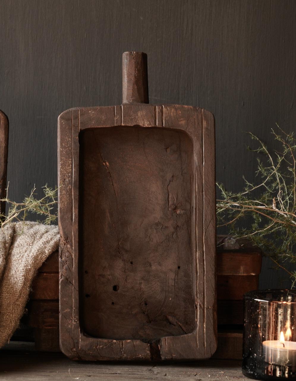 Klein  plankje  hand gemaakt van oud gebruikt hout-3