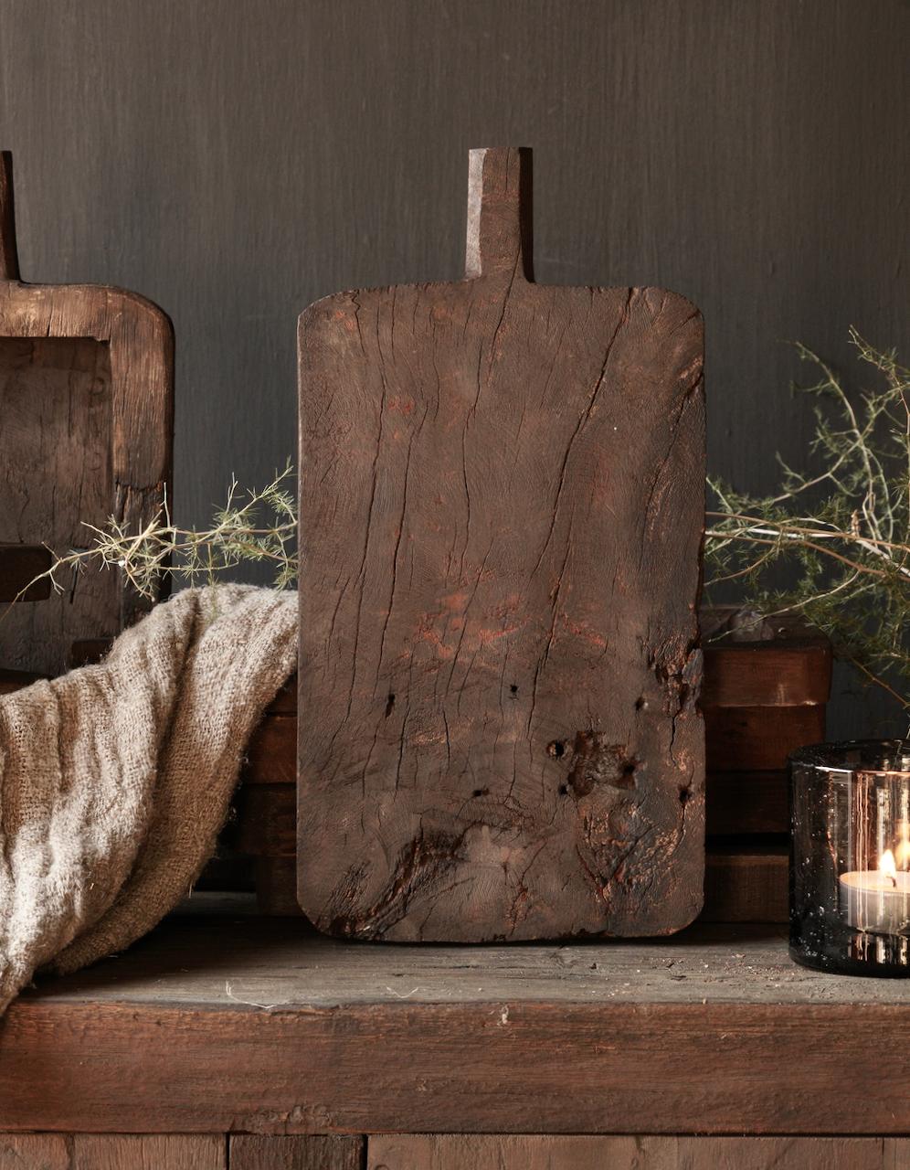 Klein  plankje  hand gemaakt van oud gebruikt hout-4