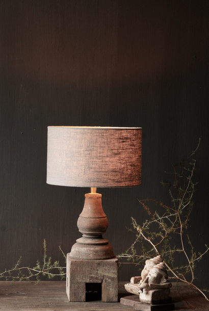 Cute Small Wooden Baluster Lamp