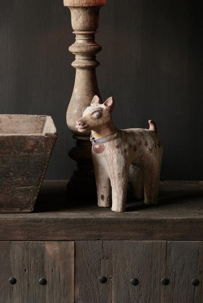 Antiek Aardewerk Nandi Heilige Koe