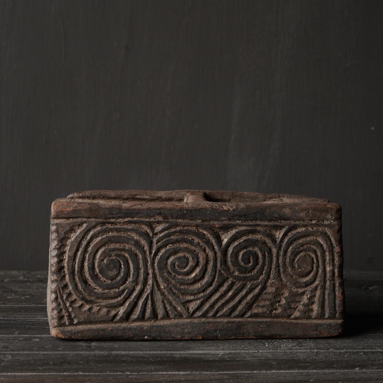 Uniek Antiek  houten bakje-2