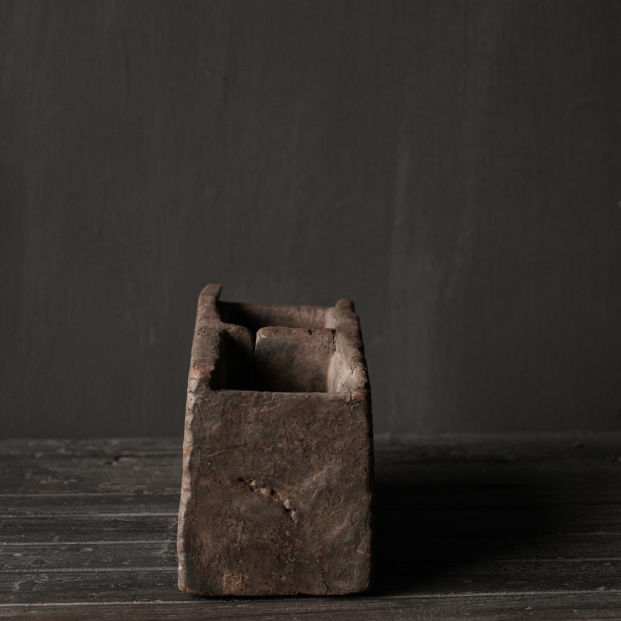 Uniek Antiek  houten bakje-3