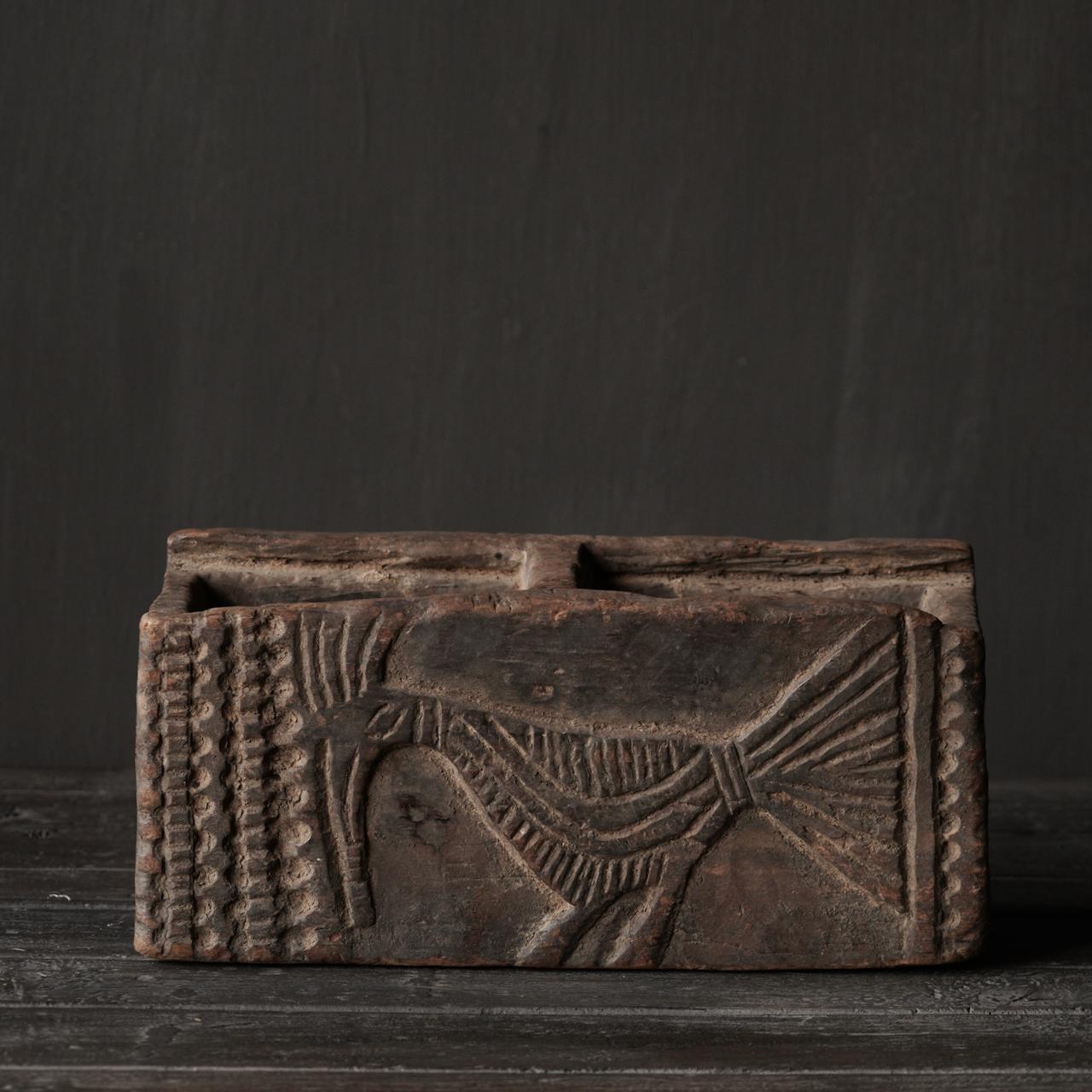 Uniek Antiek  houten bakje-4