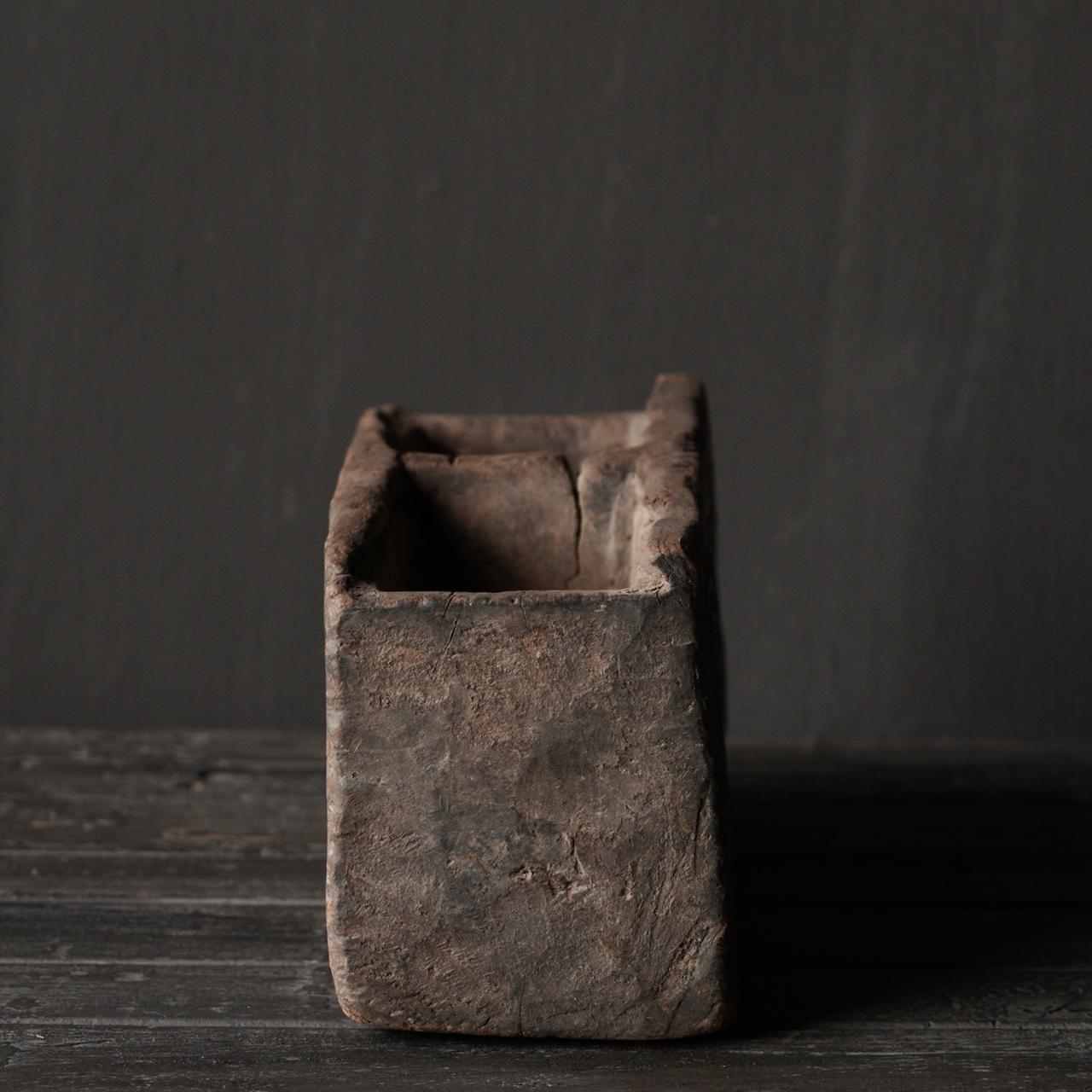 Uniek Antiek  houten bakje-5