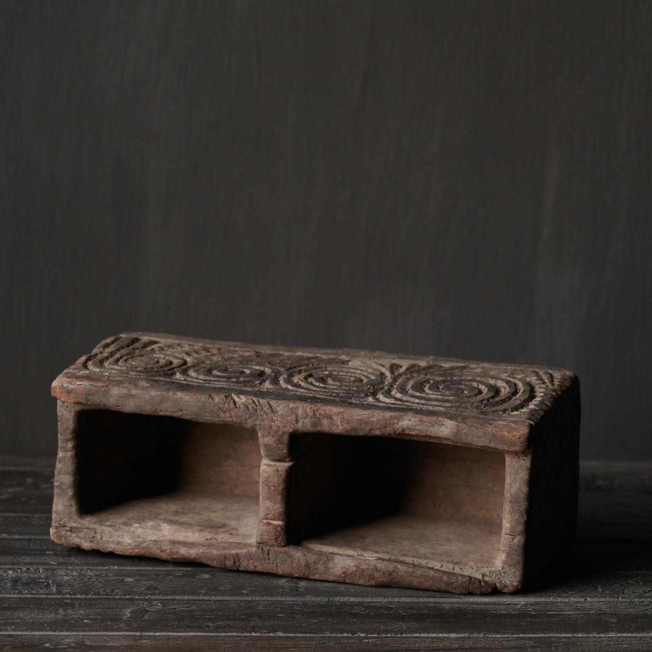 Uniek Antiek  houten bakje-6