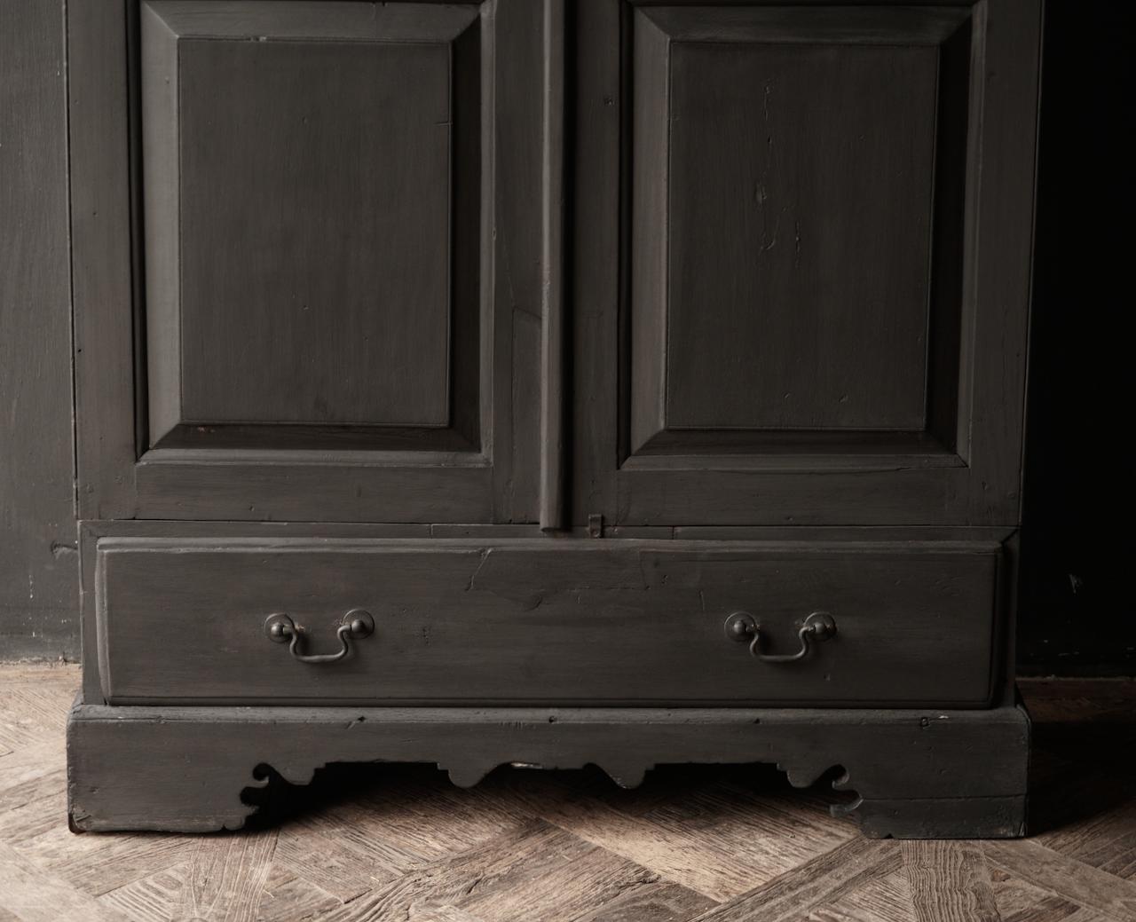 Oude Unieke Indische ( Wabi Sabi) kast twee deurs  en een lade-5