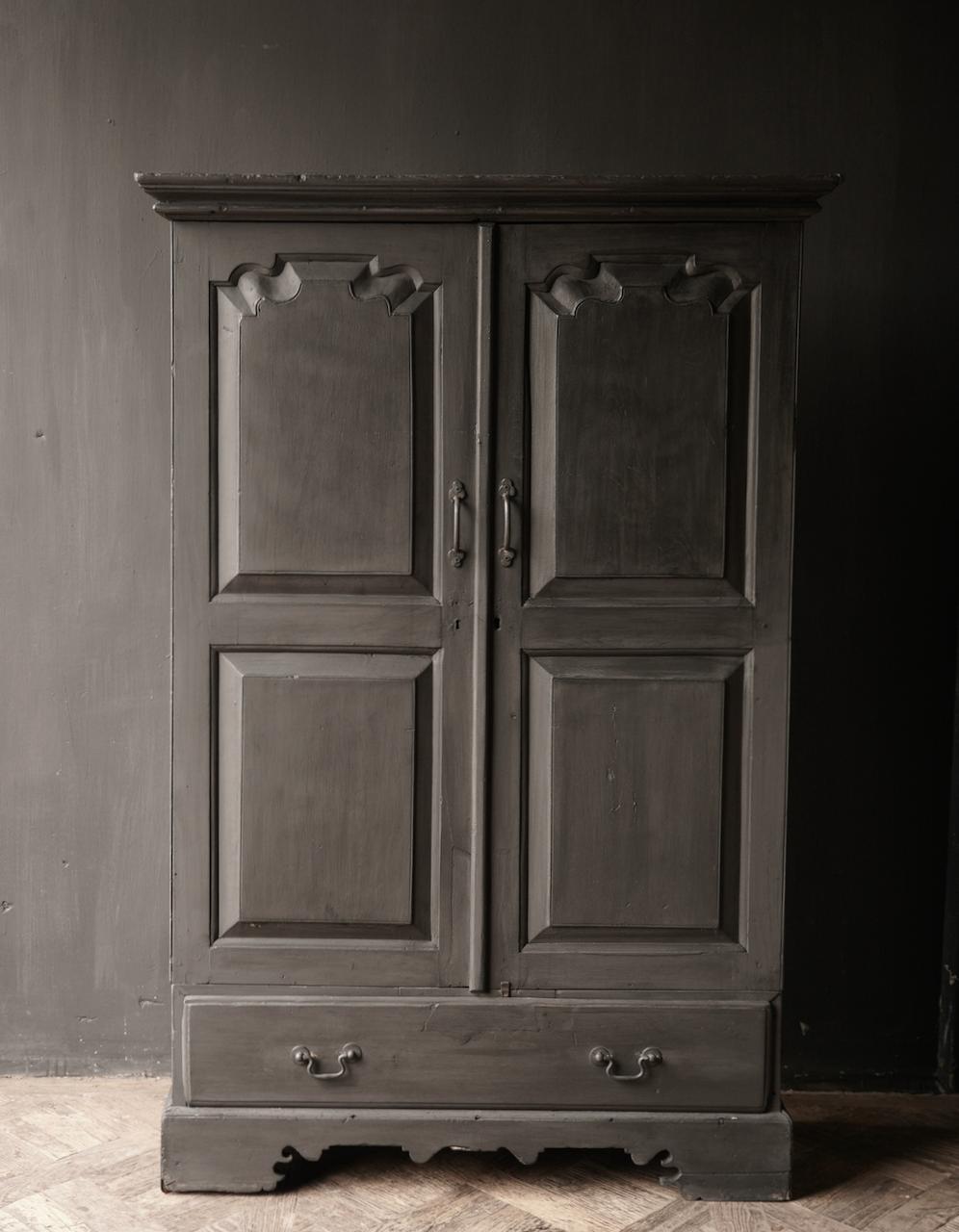 Oude Unieke Indische ( Wabi Sabi) kast twee deurs  en een lade-2