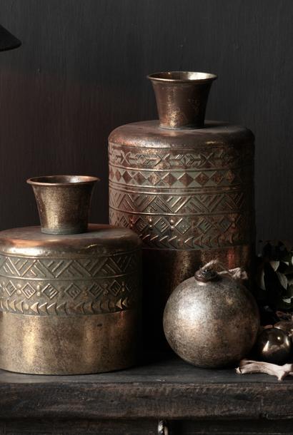 metalen vaas Antiek goud