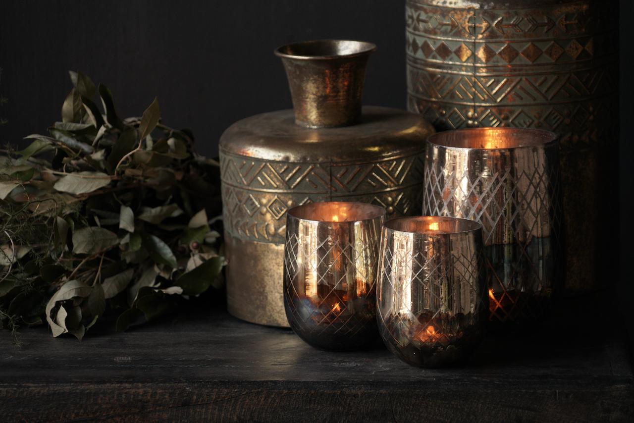 Metallvase Antik gold-4