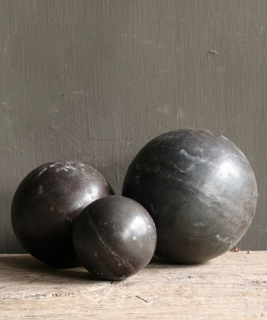 Tough wooden ball covered with iron-5